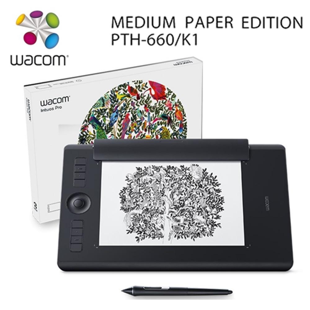 【Wacom】Intuos Pro medium 雙功能專業繪圖板 PTH-660/K1