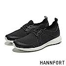 HANNFORT ICE編織網布流線休閒鞋-男-動感黑