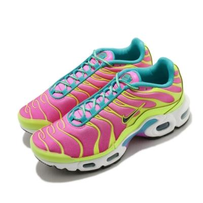Nike 休閒鞋 Air Max Plus 運動 女鞋 氣墊 舒適 避震 經典款 大童 穿搭 粉 黃 CW5840700