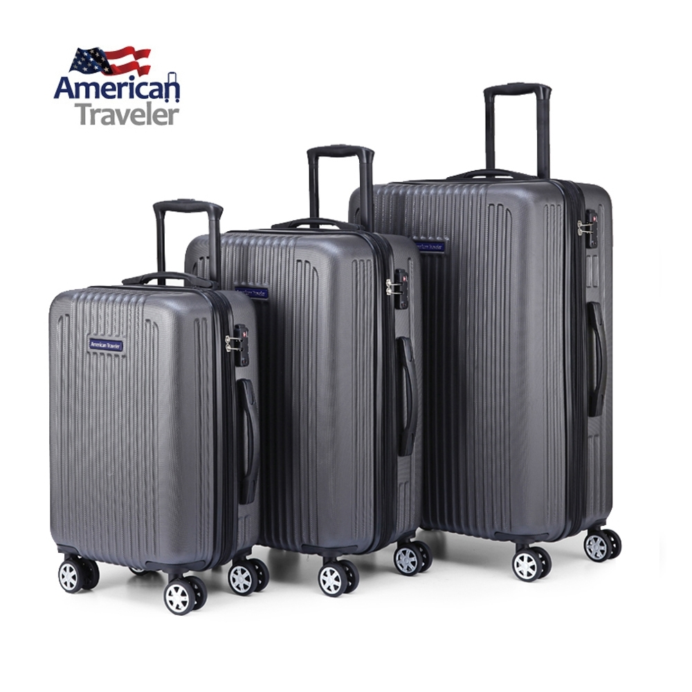 【American Traveler】NY 紐約系列 20+24+28吋三件組 (鐵灰色)