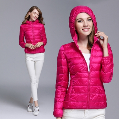 【時時樂】【KD】日系SGS認證超輕90 連帽羽絨外套(男女款)