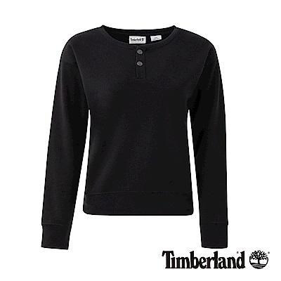 Timberland 女款黑色Cropped Logo 運動上衣 | B2802