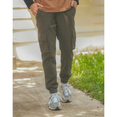 CACO-厚磅縮口工作褲(二色)-男【A1AR014】