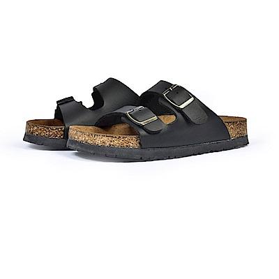 BuyGlasses 雙排扣百搭兒童拖鞋-黑