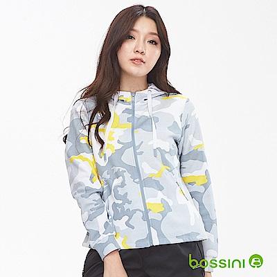 bossini女裝-休閒針織連帽外套01白