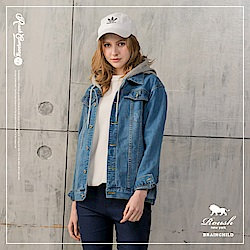 Roush 女生OVER SIZE可拆式連帽牛仔外套(3色)