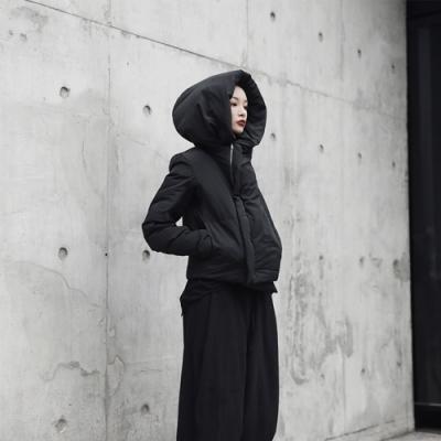 設計所在Style-RO風巫師帽短版棉衣棉服外套