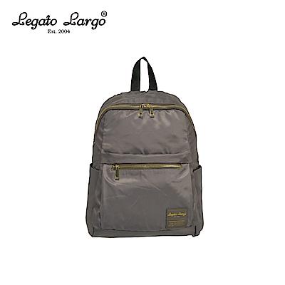 Legato Largo 防潑水微光澤後背包-灰 LH-E0722GY