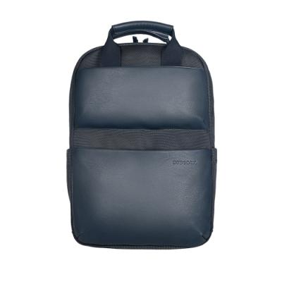 TUCANO Comfort 義大利拼接真皮商務後背包13吋-深藍