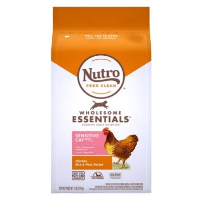 Nutro 美士 全護營養 成貓敏感腸胃配方(農場鮮雞+健康米+豌豆)5磅