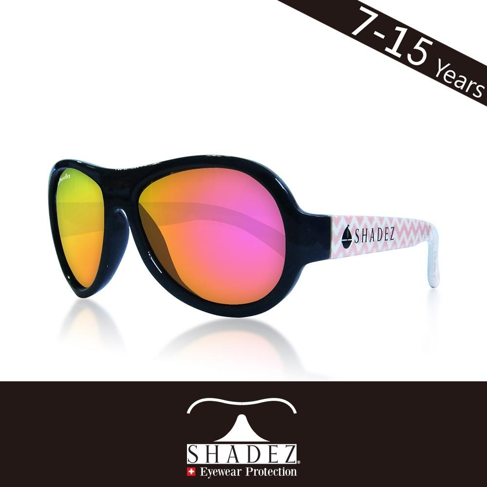 瑞士 SHADEZ 兒童太陽眼鏡 【圖騰設計款-海軍粉波紋 SHZ-99】7 - 15歲