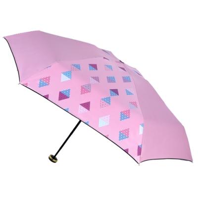 2mm 100%遮光 采漾印花黑膠降溫五折手開傘 (幾何)