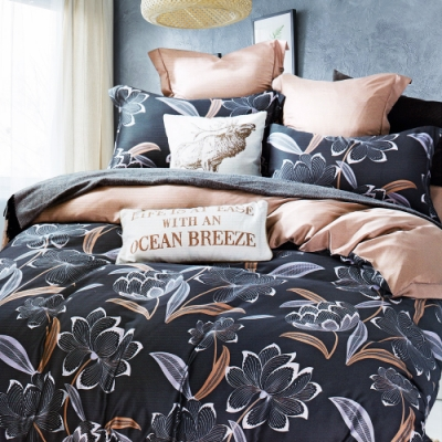 Saint Rose頂級精緻100%天絲床罩八件組(包覆高度35CM)-沐蘭 加大