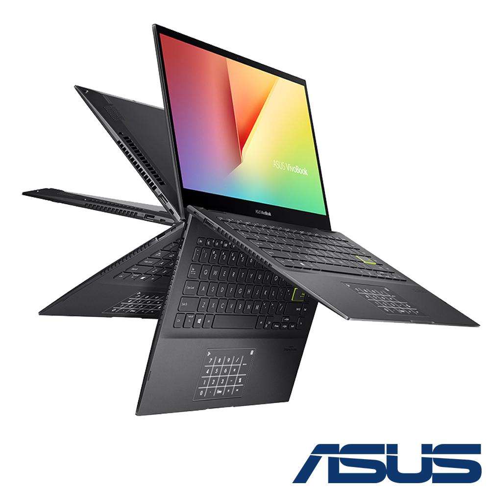 ASUS TP470EZ 14吋翻轉觸控筆電 (i7-1165G7/IRISXe MAX/16G/512G SSD/VivoBook Flip 14/搖滾黑)