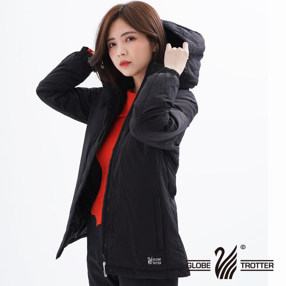 【遊遍天下】GLOBETEX女款顯瘦防水防風保暖90%羽絨外套GJ23018黑色