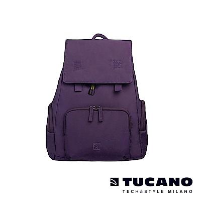 TUCANO 超輕量防潑水撞色系休閒後背包-紫色