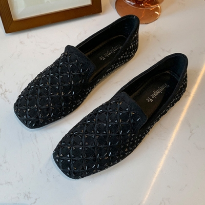 KEITH-WILL時尚鞋館 韓時尚魔力美人方頭樂福鞋-黑