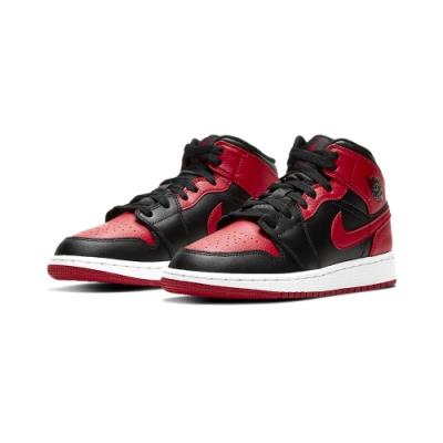 Nike Air Jordan 1 Mid Banned GS 黑紅中筒 554725-074