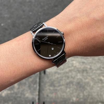 CASIO 卡西歐 SHEEN 極簡時尚 鏡面錶盤時尚腕錶-SHE-4544BD-1A