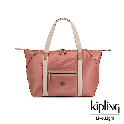 Kipling 城市探索玫瑰粉手提側背包-ART M-EDGELAND系列