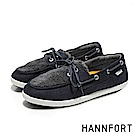 HANNFORT CALIFORNIA羔羊毛帆船鞋-女-深海藍
