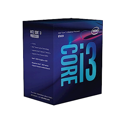 Intel 第八代 Core i3-8100 四核心處理器《3.6Ghz/LGA1151》