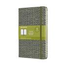 MOLESKINE BLEND織布系列限量筆記本-L型橫線綠