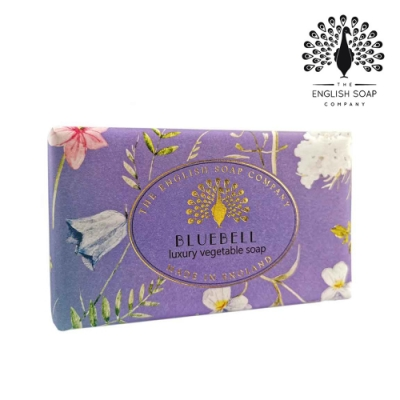 The English Soap Company 乳木果油復古香氛皂-藍風鈴 Vintage Bluebell 190g
