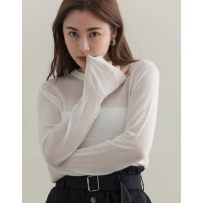 Shester55-透膚圓領針織上衣(三色)-女【XSH130】