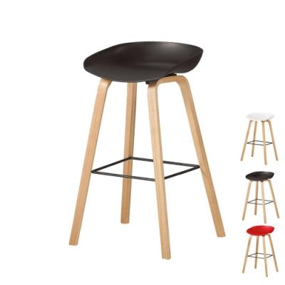 Bernice-倫絲簡約吧台椅/高腳椅/單椅(三色可選)-48x42x81cm