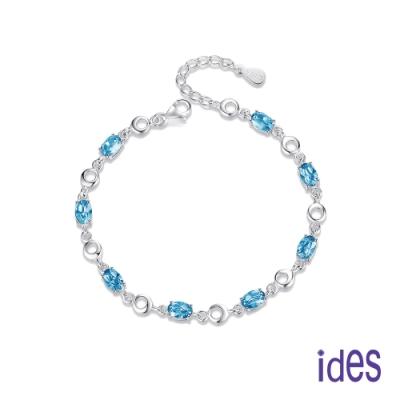 ides愛蒂思 歐美設計彩寶系列海藍寶拓帕石手鍊/大海傳說
