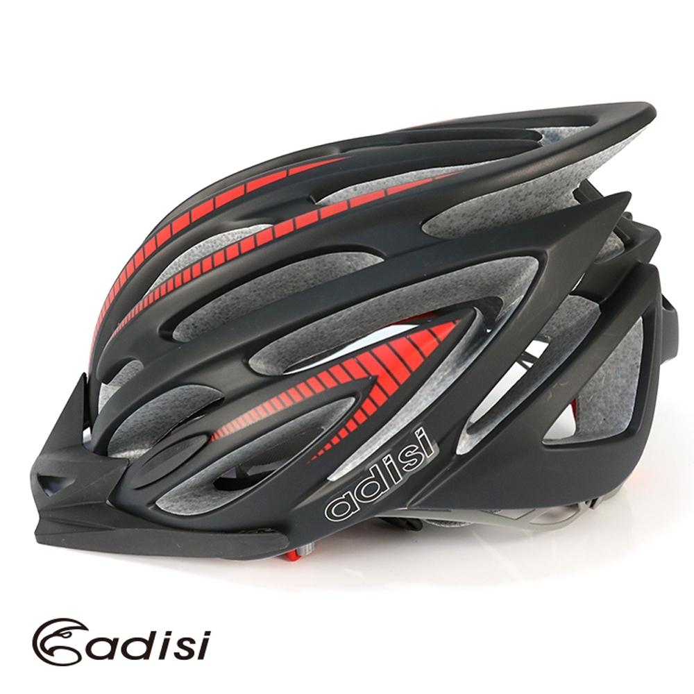 ADISI 自行車帽 CS-6000 霧黑-紅