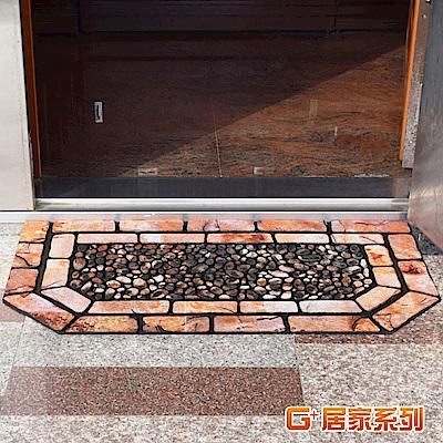 【G 居家】戶外植絨橡膠厚實刮泥地墊(特色六角型款58102)