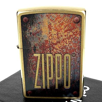 ZIPPO 美系~Rusty Plate-鏽蝕鐵牌圖案設計打火機