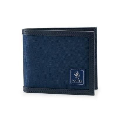 PORTER - 個性獨特FRINGE簡約橫式皮夾 - 深藍