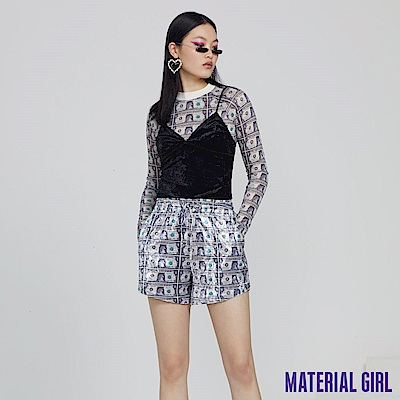 MATERIAL GIRL 絢麗美金休閒短褲 【92605】