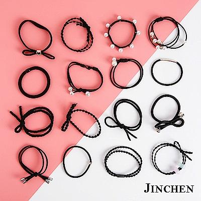JINCHEN 韓版森林系女孩髮圈 髮繩 髮束16件組