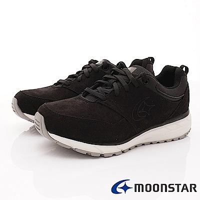 日本Moonstar戶外健走鞋-3E寬楦防滑抗菌款 1856黑(男段)