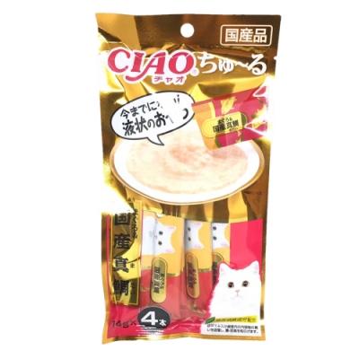 日本 CIAO 啾嚕燒肉泥 SC-177 鮪魚&國產鯛魚 14g*4入