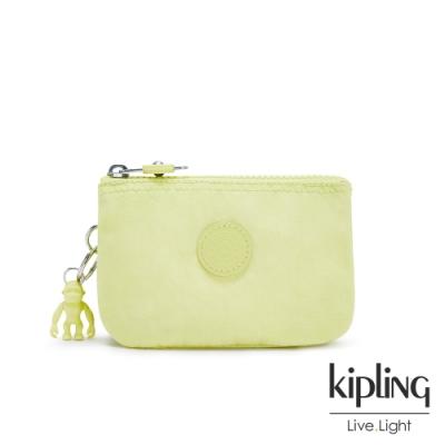 Kipling 清新奶油果綠三夾層配件包-CREATIVITY S