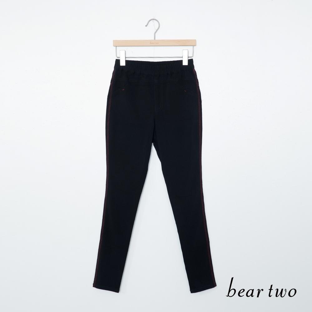 beartwo-簡約時尚內搭褲-黑