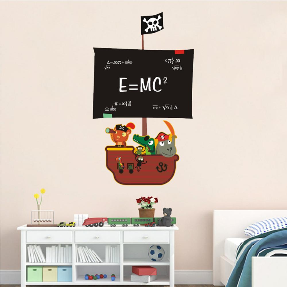 半島良品 DIY無痕壁貼-海盜船黑板 AY630 45x60cm
