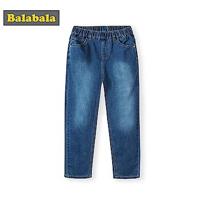 Balabala巴拉巴拉-彈性自然刷色牛仔褲-男(2色)