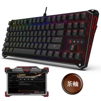 A4 Bloody B930 三代光軸RGB彩漫機械式電競鍵盤 茶軸