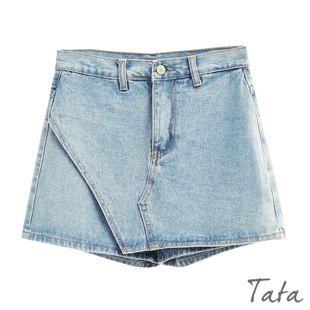 A字牛仔短褲裙 共二色 TATA