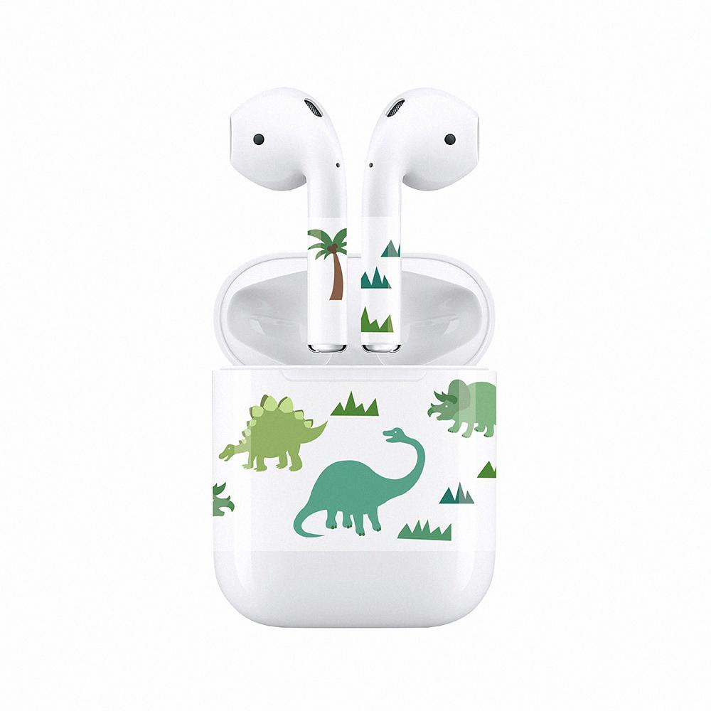 mogen AirPods 隨身耳機保護貼 恐龍款