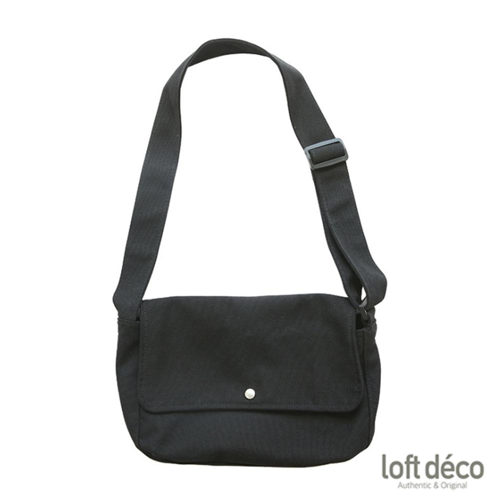 Loft Deco | Black | 純色報童包