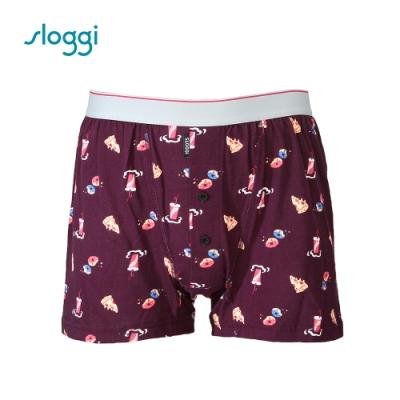 sloggi men Junk Food系列寬鬆平口褲 深紫褐 RG918808 V9