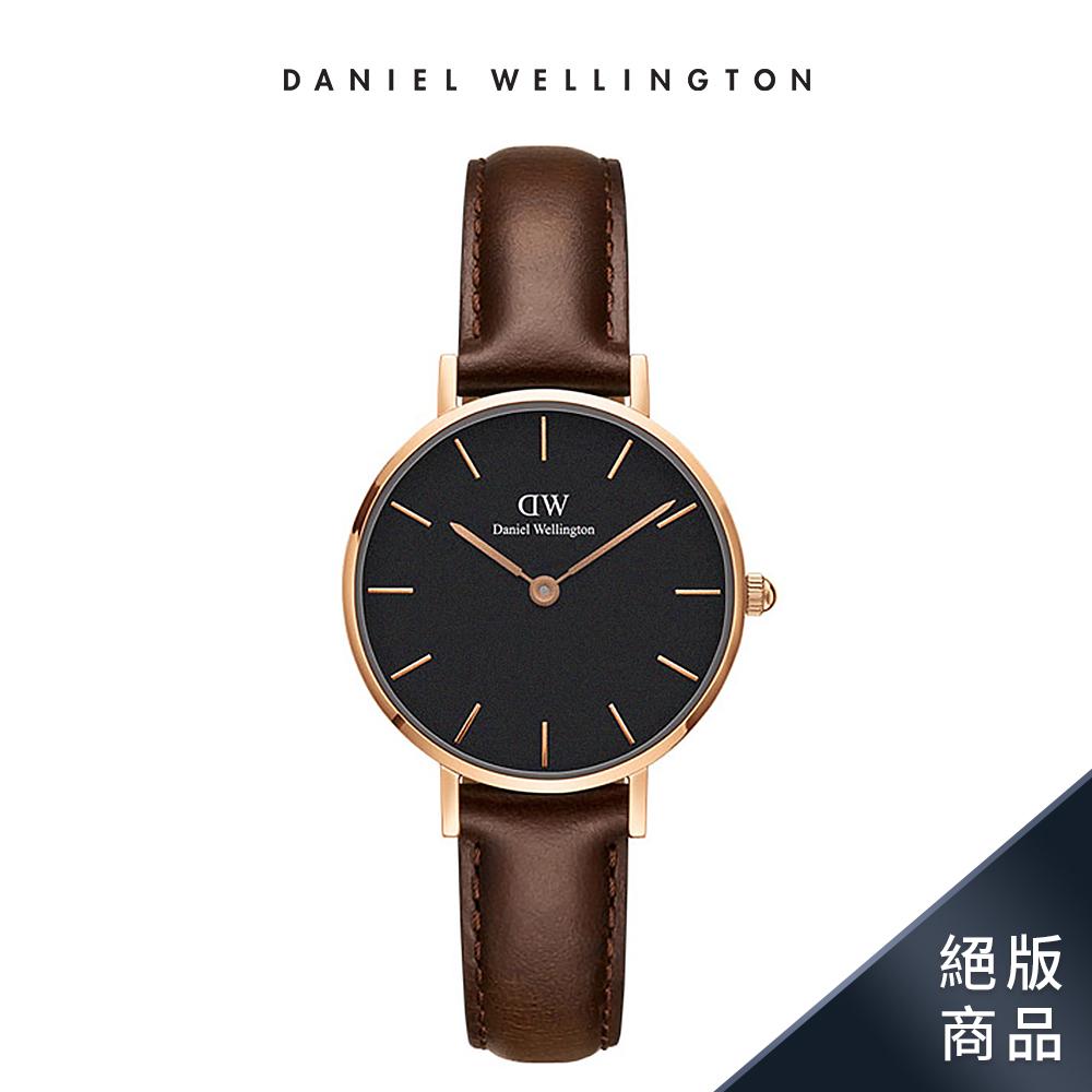 【Daniel Wellington】官方直營 Classic Petite 28mm深棕真皮皮革錶 DW手錶
