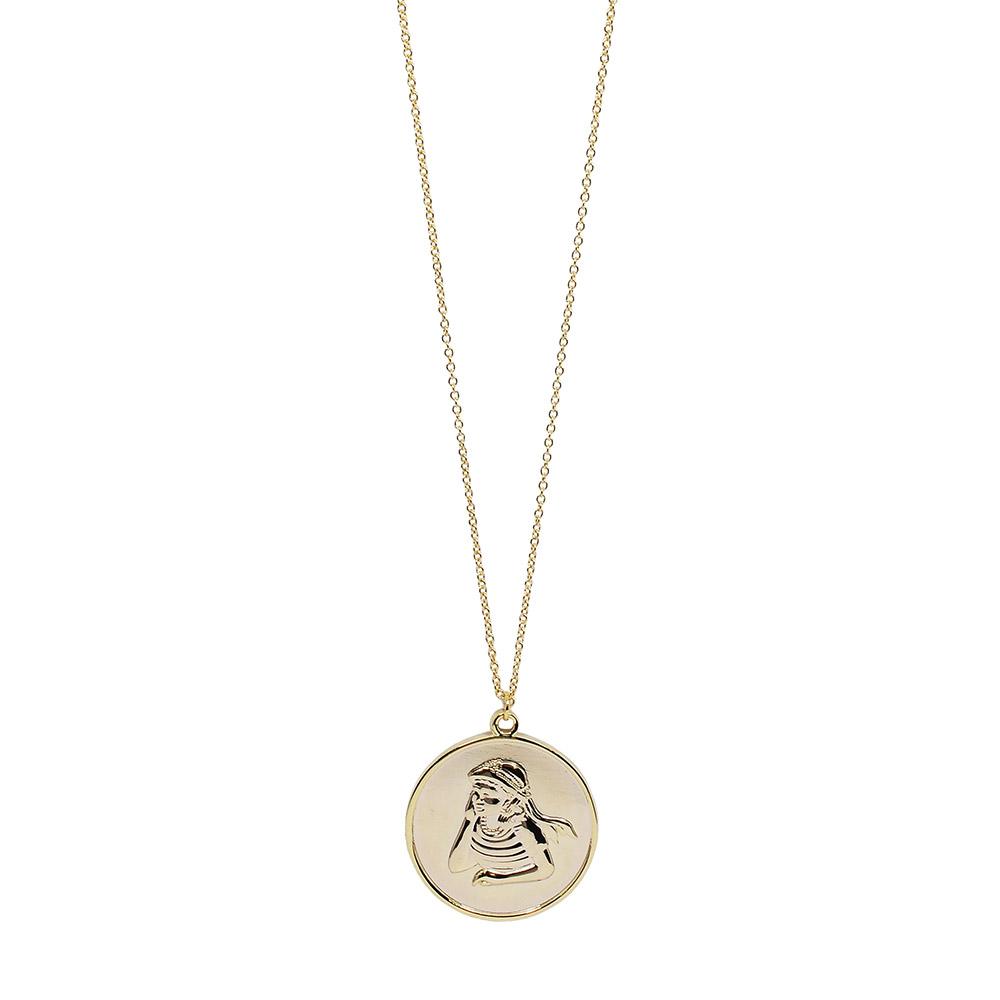 Dorsey 美國時尚品牌 片刻寧靜圓牌金色項鍊
